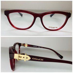 Coach Cat Eye Burgundy Eyeglasses Frames NWOT